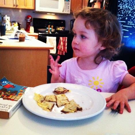 Juliette et les crêpes au Nutella de matante Vivi