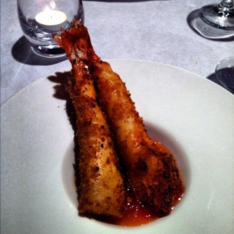 Crevettes géantes en croûte de panko