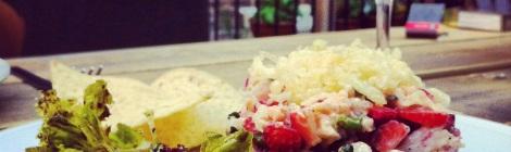 Tartare de crevettes nordiques et fraises