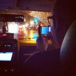 On termine la soirée en taxi, sous le déluge!