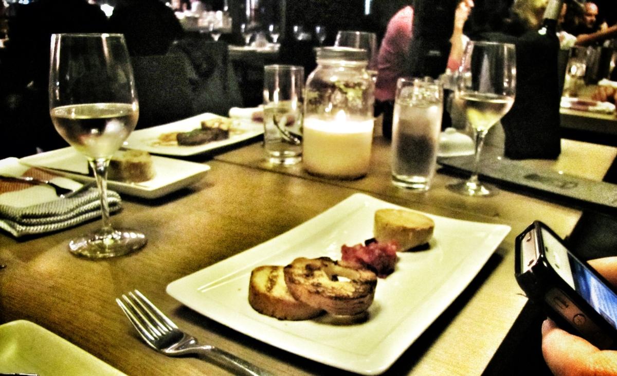 L'entrée de foie gras au torchon