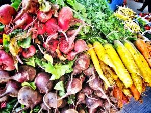 Un arc-en-ciel de légumes