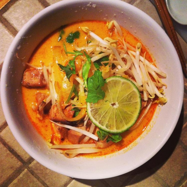 Soupe thaï cari coco