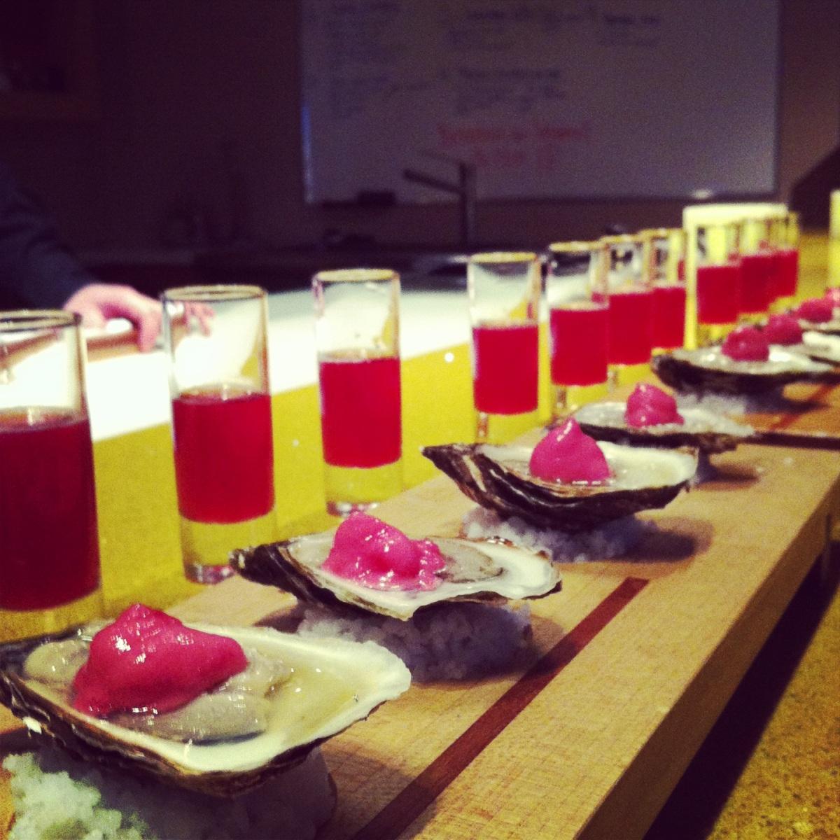 L'huître apéro: Cosmopolitain à la Berce Laineuse ou Iced Tea des bois