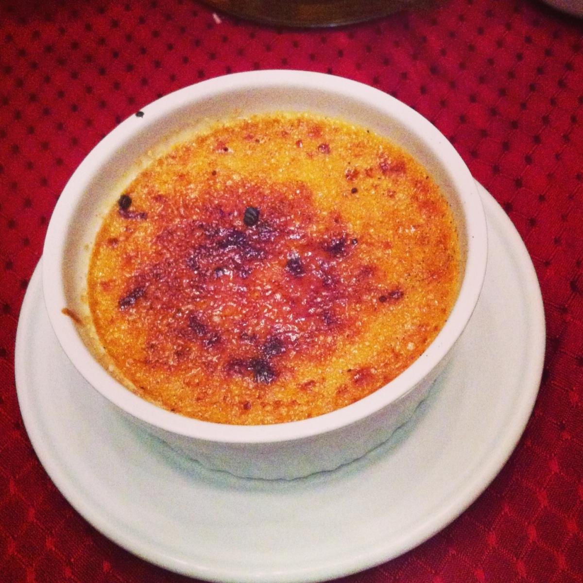 Crème brûlée au chocolat Dulcey de Valrhona