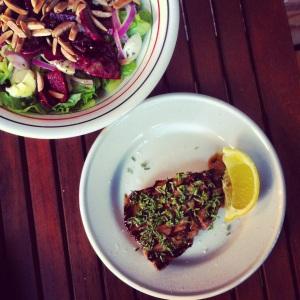 Steak, fleur de sel, thym et citron
