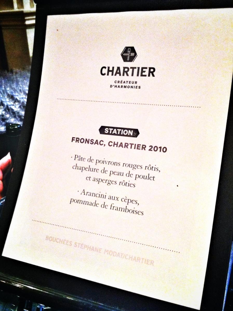 Accors mets-vin pour le Fronsac de Chartier