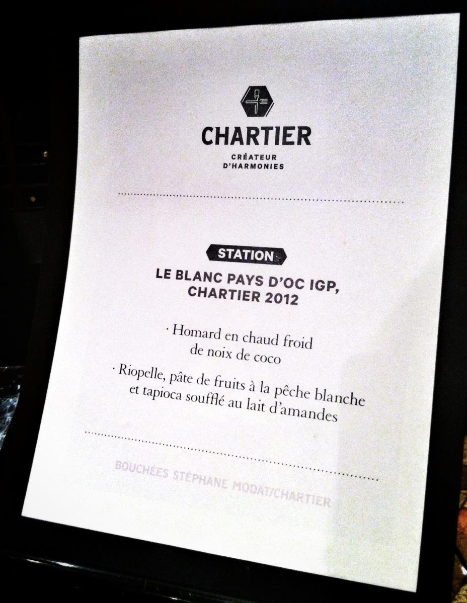 Accors mets-vin pour le Blanc Pays d'Oc de Chartier
