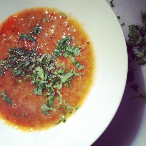 La meilleure soupe aux lentilles rouges au monde