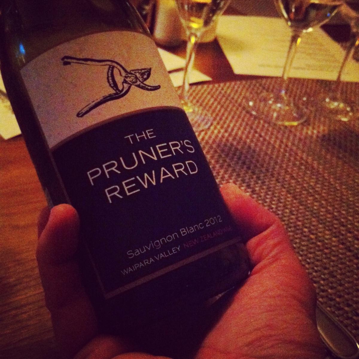The Pruner's Reward, Pinot noir, waipara Valley, Nouvelle - Zélande, 2011