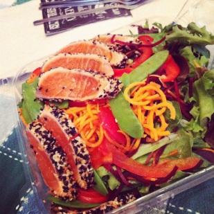 Salade de saumon tataki