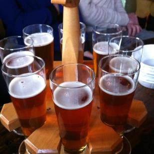 Départ à la Barberie: on savoure une bière à la citrouille
