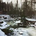 La neige recouvre le paysage