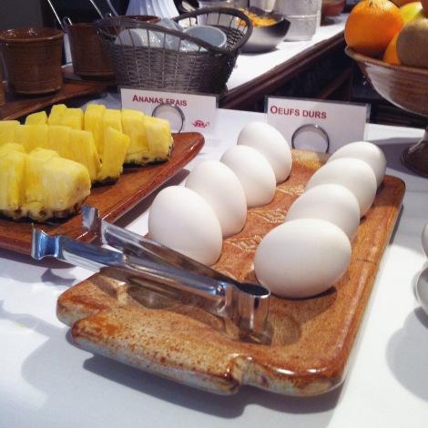 Oeufs et fruits