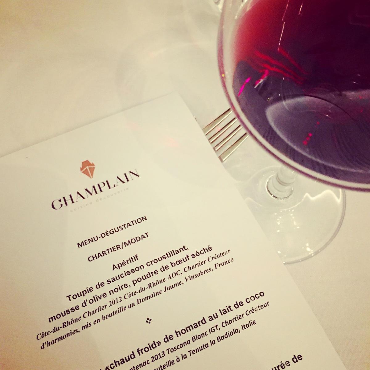 Manger au Champlain est toujours un événement