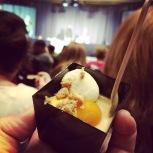 Le dessert d'Isabelle Plante, à l'argousier