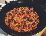 La préparation de viande, préparée la veille