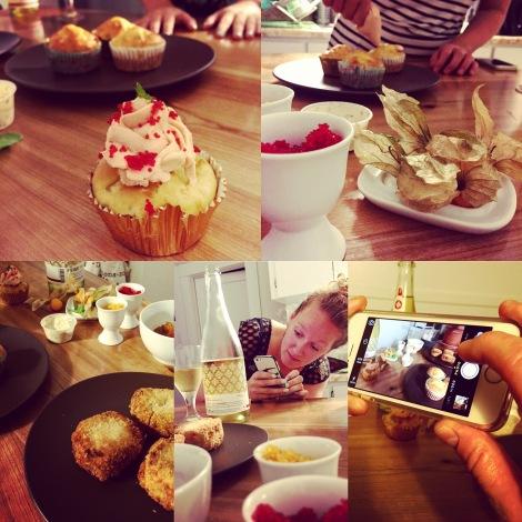 Au dessert, cupcakes aux crevettes et crabcakes!