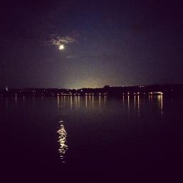 Une lune absolument magnifique!