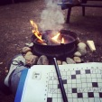 Mots croisés au coin du feu