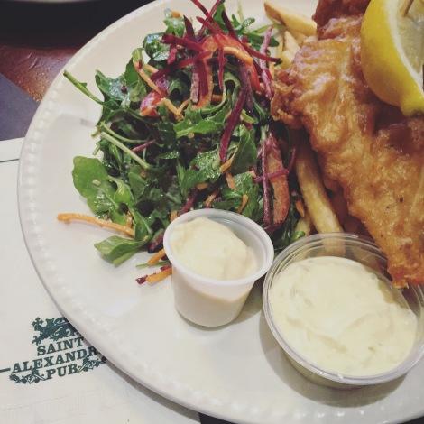 Pub St-Alexandre: Fish & chips du Pub