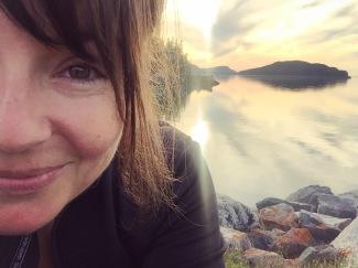 Selfie annuel au coucher de soleil