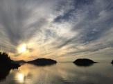 Coucher de soleil au Bic